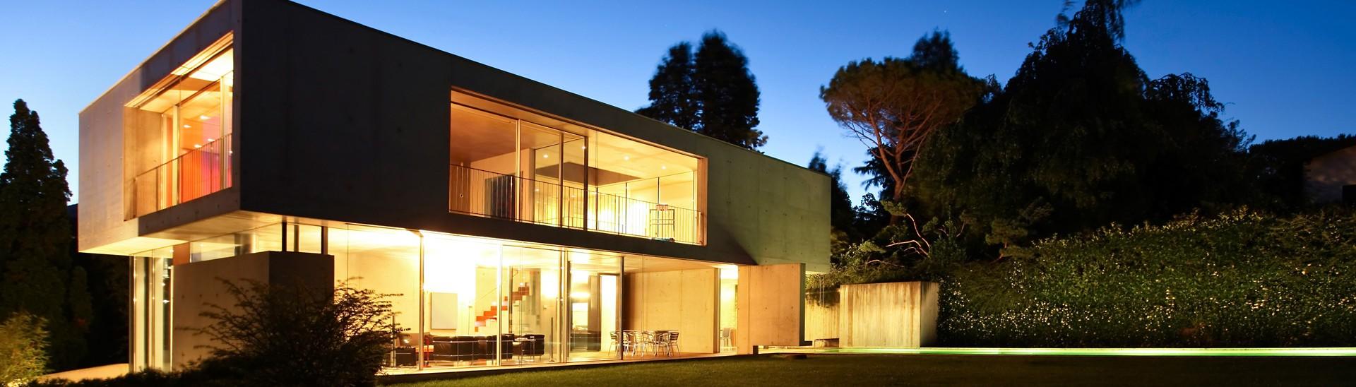 Modernes Betonhaus